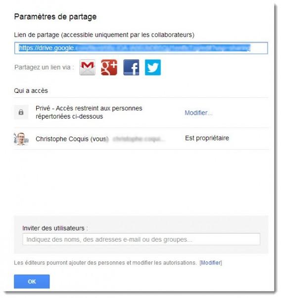 Partage Google Drive