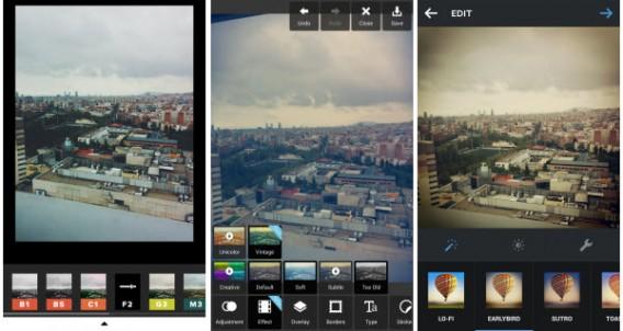 Filters VSCO Cam Instagram Pixlr Express