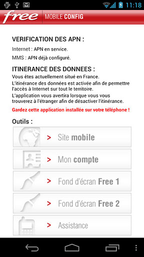 Application officielle Free Mobile