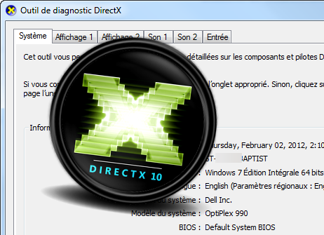 Outil de diagnostic DirectX Softonic