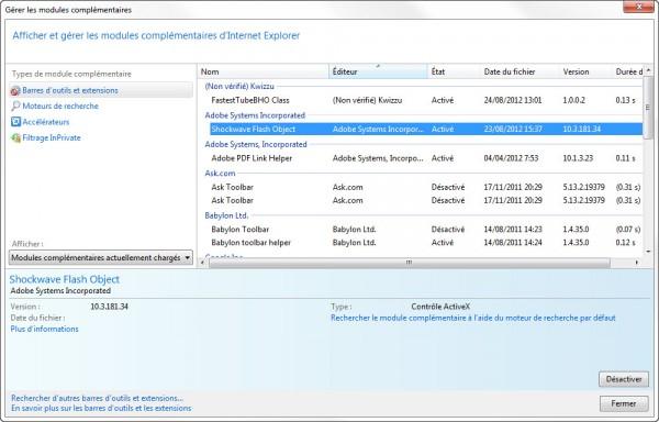 Comment désactiver Java et/ou Flash de son navigateur web?