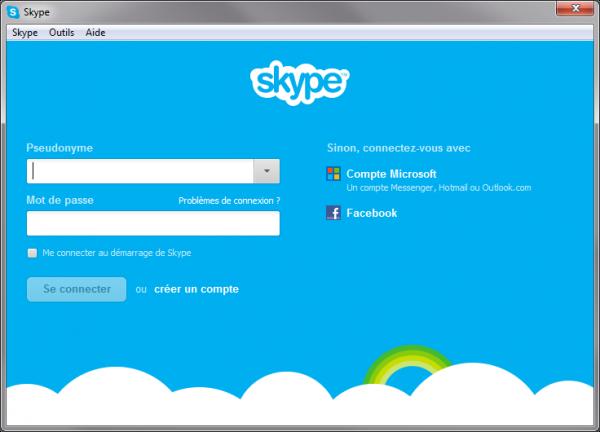 Se connecter à l'aide d'un compte Microsoft Skype