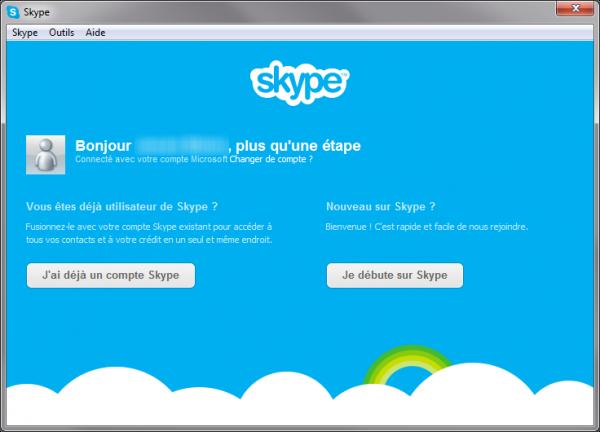 Je débute sur Skype