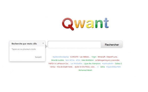 Lancement de Qwant: un moteur de recherche français de nouvelle génération