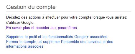 parametres compte google
