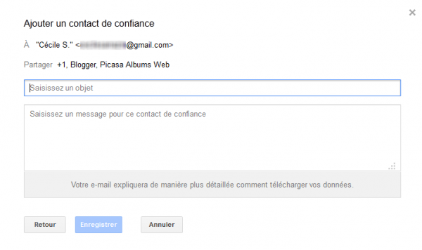 08 gestionnaire compte inactif google - redaction message