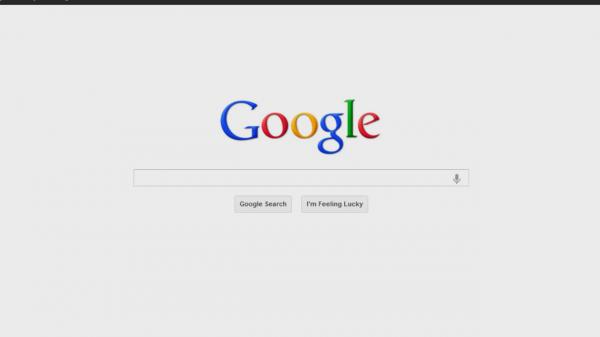 Page de démarrage Google