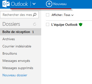 Guide Outlook.com : Barre De Menu