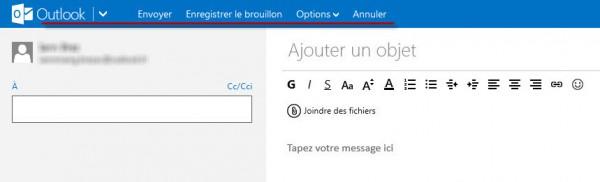 Guide Outlook.com : Nouveau Message