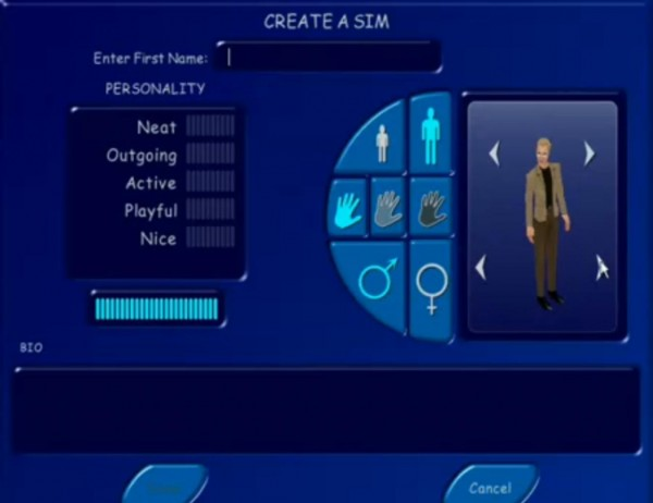 Sims1 interface