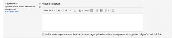 parametrer signature gmail