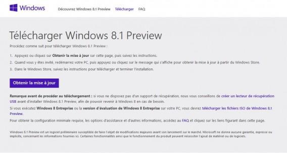 Mise à jour Windows 8.1