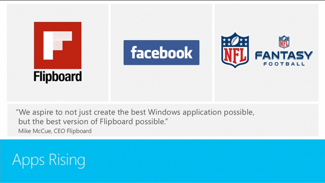 Build 2013: Facebook et Flipboard ont enfin leur application sur Windows 8.1