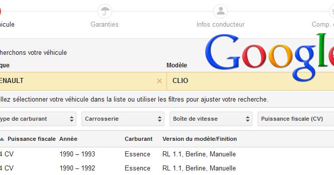 Google lance un comparateur d'assurances en ligne