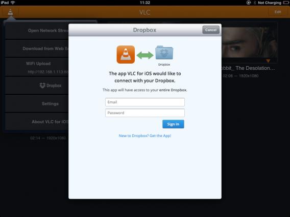 VLC ios Dropbox
