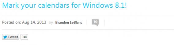 Date de sortie Windows 8.1