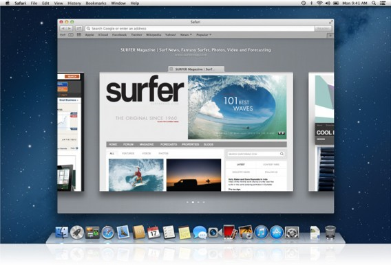 Page Safari - navigateur Internet