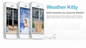 Weather Kitty: quand les chatons présentent la météo sur iPhone