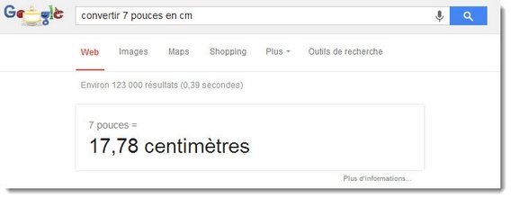 Google Search - convertisseur