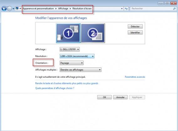 Astuce windows mon cran est invers comment le for Ouvrir fenetre plein ecran windows 7