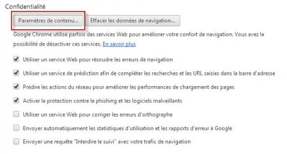Chrome tuto 4 - Paramères du contenu 1