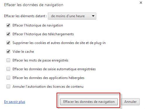 Chrome tuto 5 - Effacer les données de navigation