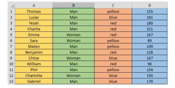 Tableau Excel