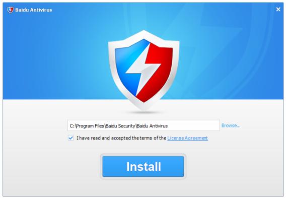 Installation de Baidu Antivirus
