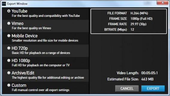 GoPro Studio export windows