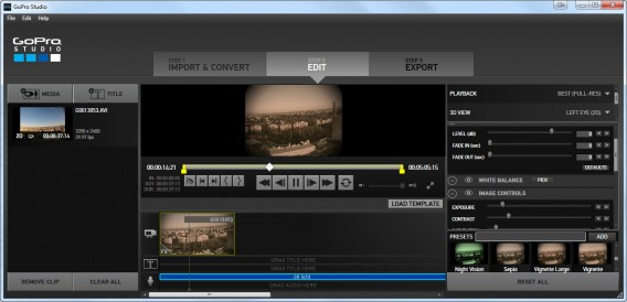 GoPro Studio edit time lapse