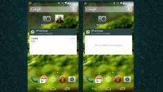 WhatsApp pour Android: notifications sur la home et paiement pour un ami au menu