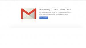 Gmail teste un nouveau design pour l'onglet Promotions