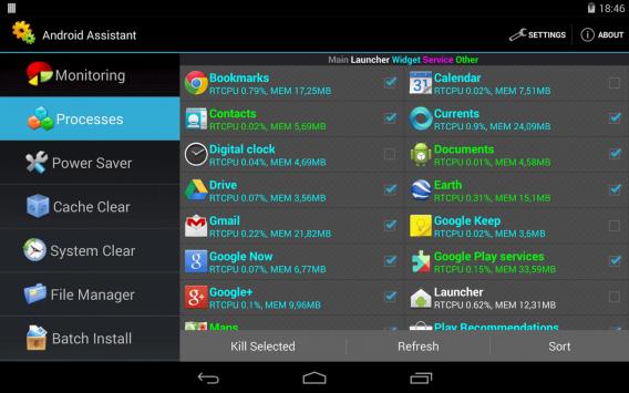 Android Assistant: videz le cache