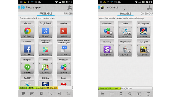AppMgr III: transferez des applis vers la carte SD