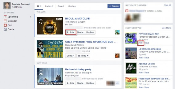Join events Facebook