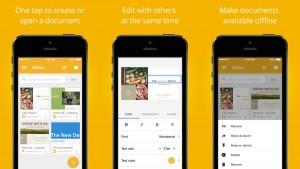 Google Docs supporte nativement les fichiers Office sur iPhone