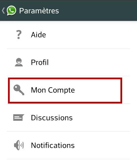 WhatsApp - compte
