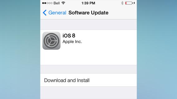 iOS 8 install