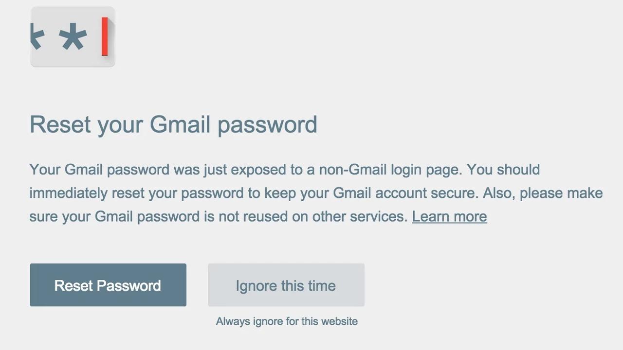 Voilà comment Password Alert empêche le piratage de votre mot de passe Google