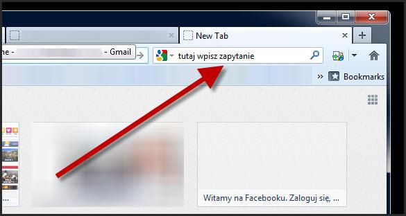 Wyszukiwarka w Mozilla Firefox
