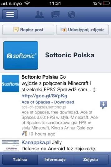 Facebook na telefony