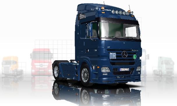 Euro Truck Simulator Mercedes Benz Actros MP1 & MP2 Megaspace Mod pobierz