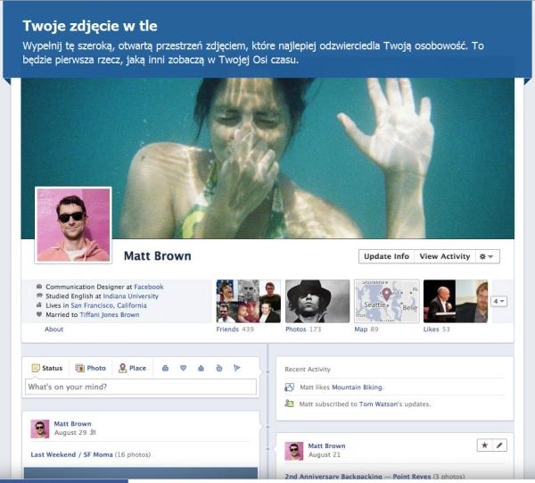 Facebook - Oś Czasu