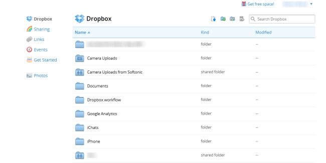 Dropbox online