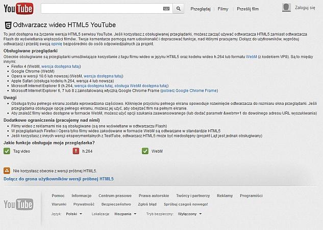 Youtube HTML5 Firefox