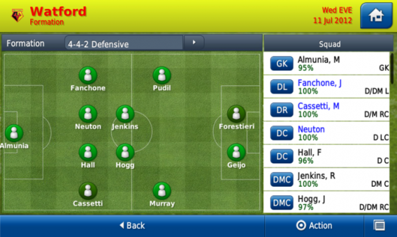 Football Manager Handheld 2013 na Android