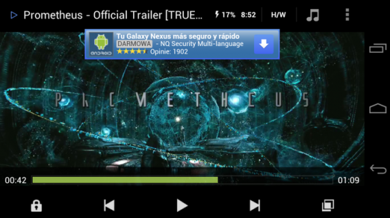 MX Player na Android
