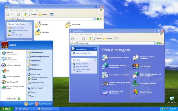 Windows XP pulpit - czar wspomnień