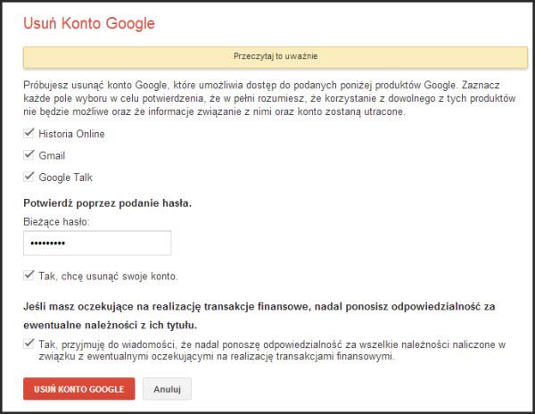 Jak usunąć Gmail?