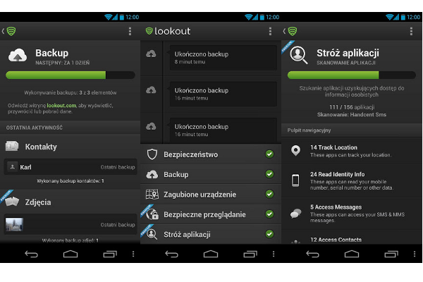 Lookout Security & Antivirus na Android